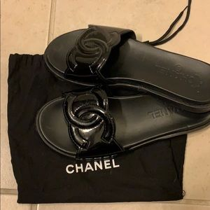 d95bd6e13cc Authentic Chanel mule slides.  750  850. Size  6 · CHANEL